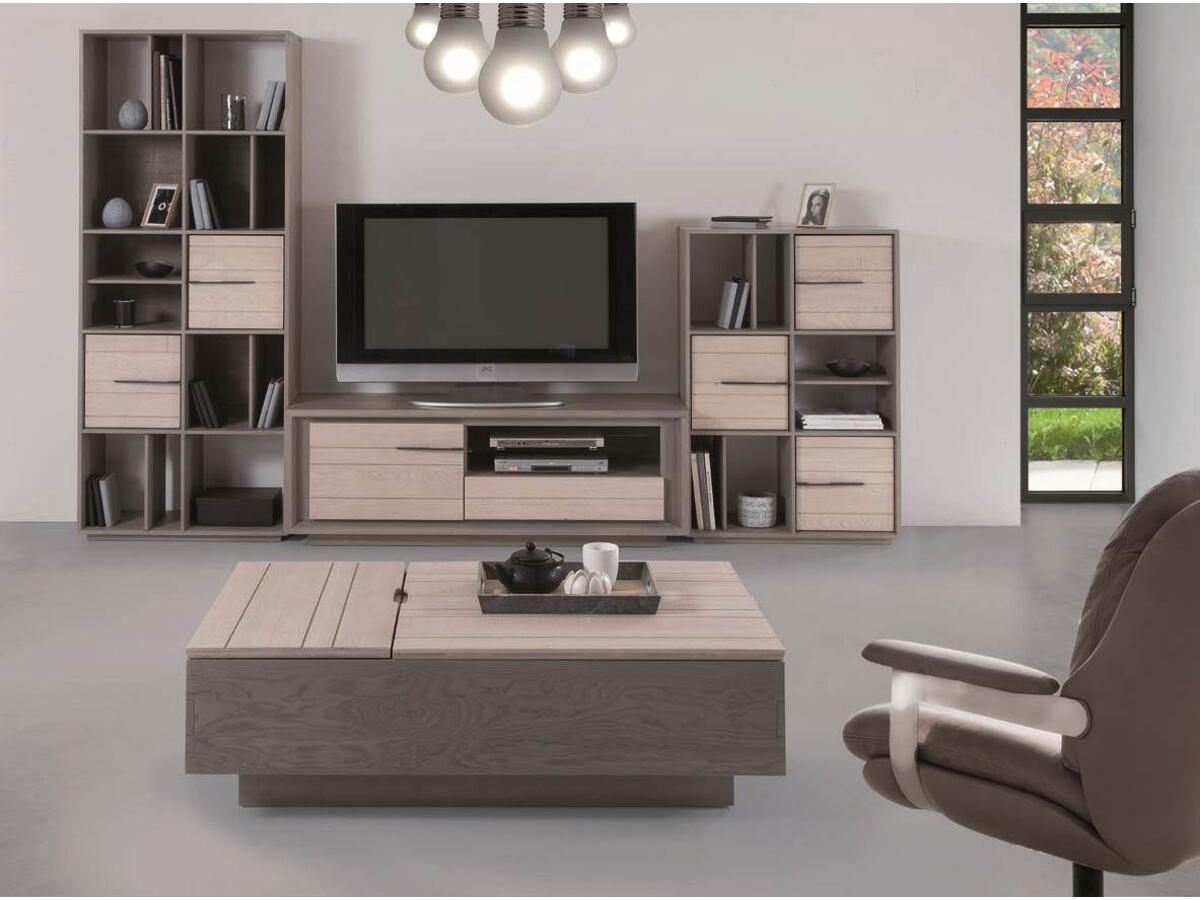 meuble tv 2 portes st florentin. Black Bedroom Furniture Sets. Home Design Ideas