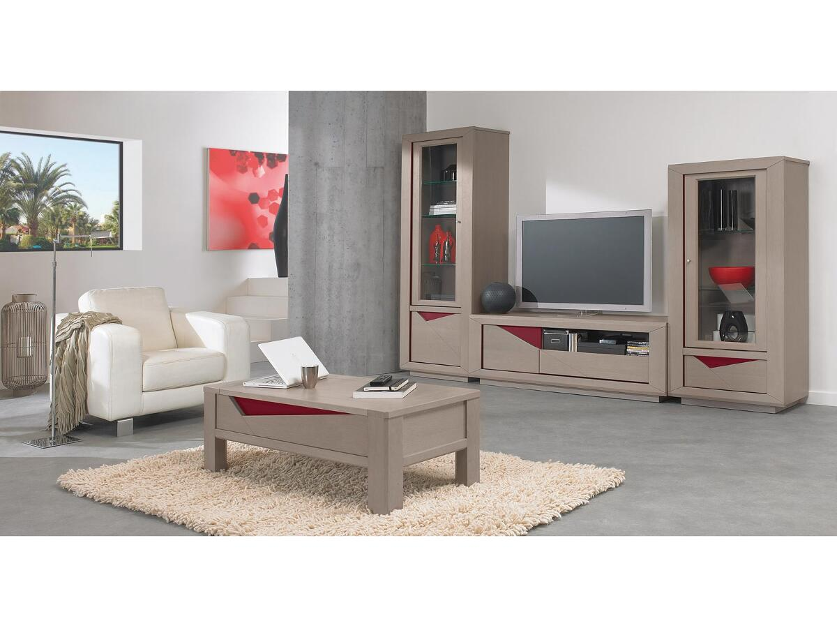 meuble tv hifi 1 porte 1 tiroir st florentin. Black Bedroom Furniture Sets. Home Design Ideas
