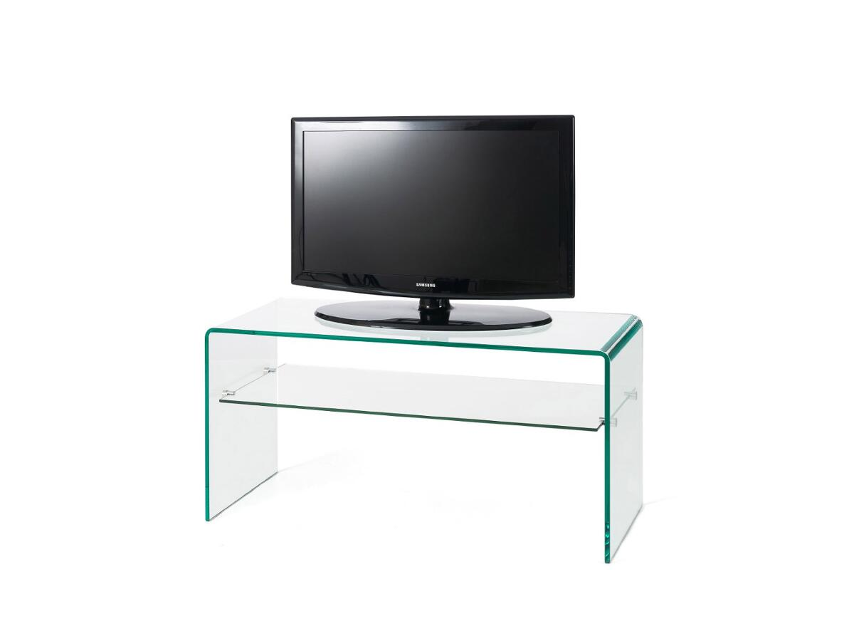 Meuble tv verre 1 tag re st florentin for Meuble etagere tv